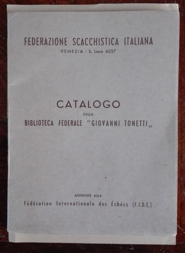 Catalogo Giovanni Tonetti