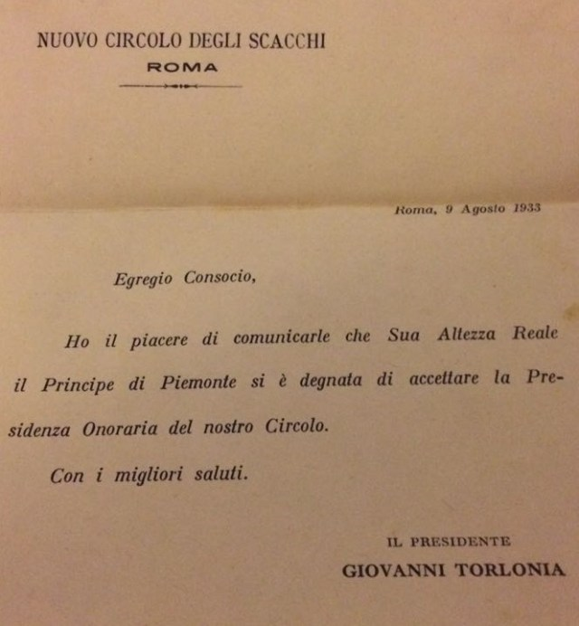 NCDS 1933 LETTERA TORLONIA