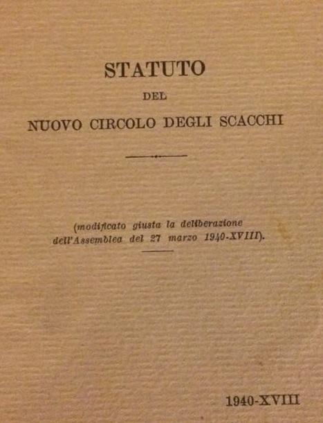 NCDS STATUTO 1940