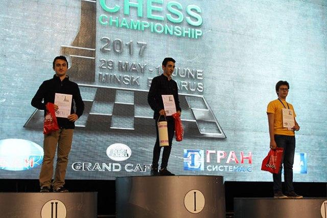 EICC2017 U18 podium
