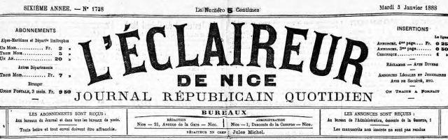 L_Eclaireur de Nice - couverture