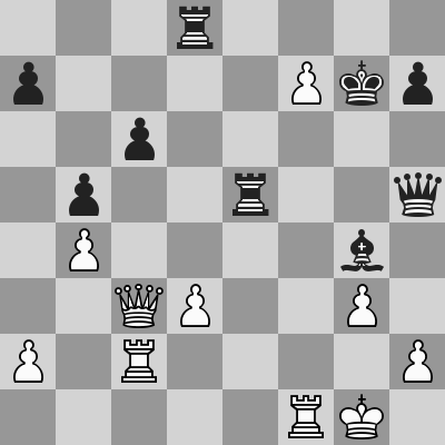 Anand-Caruana dopo 22. ... Te5