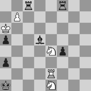 Lasker-Capablanca, 14a del match, dopo 56. ... Axe4 (vista dal Nero)