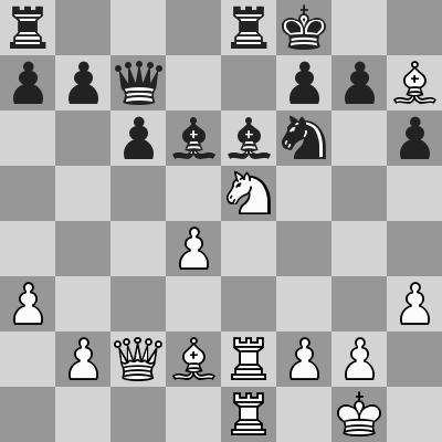 Carlsen-Granda Zuniga dopo 20. ... Dc7