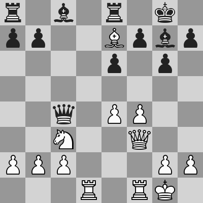 Grischuk-Vachier Lagrave dopo 13. ... Te8