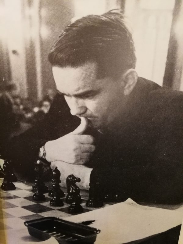 Kotov durante il match Praga-Mosca del 1946