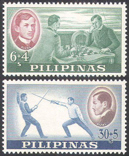 1962_Filippine_Scacchi e Scherma