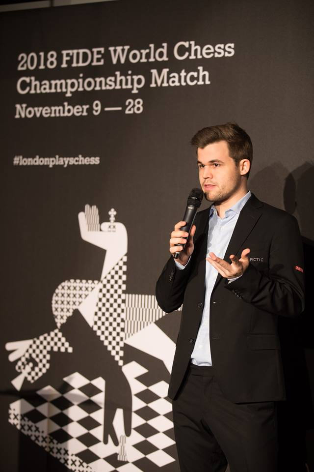 FIDE WChip 2018 Carlsen announcement