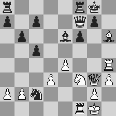 Carlsen-Karjakin, Blitz 15° turno, dopo 23. ... Cxc2