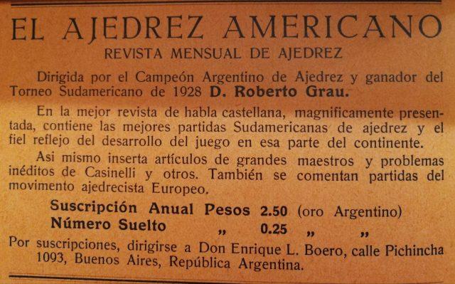 """El ajedrez americano su """"Italia Scacchistica"""", numero di agosto 1929"""