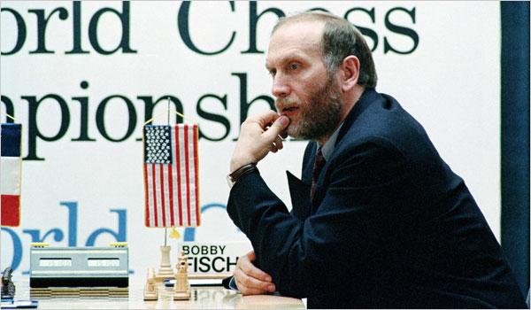 Fischer durante il match con Spassky in Jugoslavia