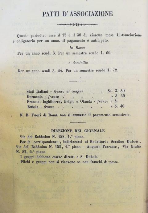 La Rivista degli Scacchi, Quarta di copertina del Num. 24