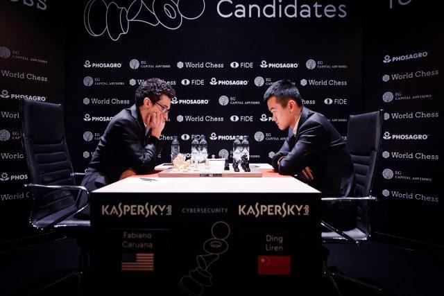 Candidates 2018 - R9, Caruana-Ding Liren