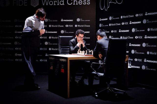 Candidates 2018 - R9, Grischuk osserva la Caruana-Ding Liren