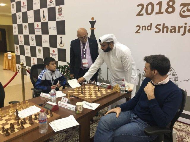 Sharjah 2018 - Sindarov-Jones, Draw