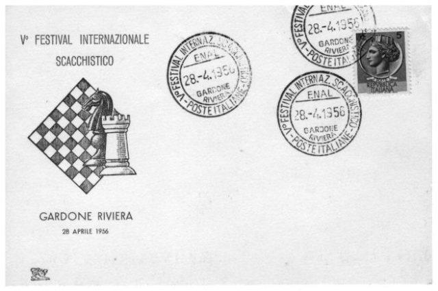 GARDONE RIVIERA 1956_ANNULLO