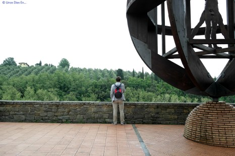A. Contemplating the Tuscan Landscape