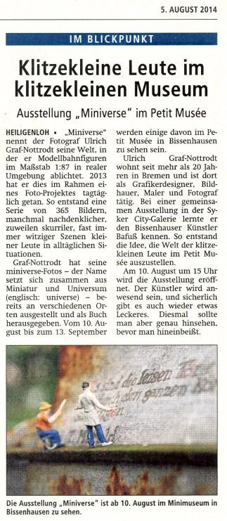 Kreiszeitung – 05.08.2014