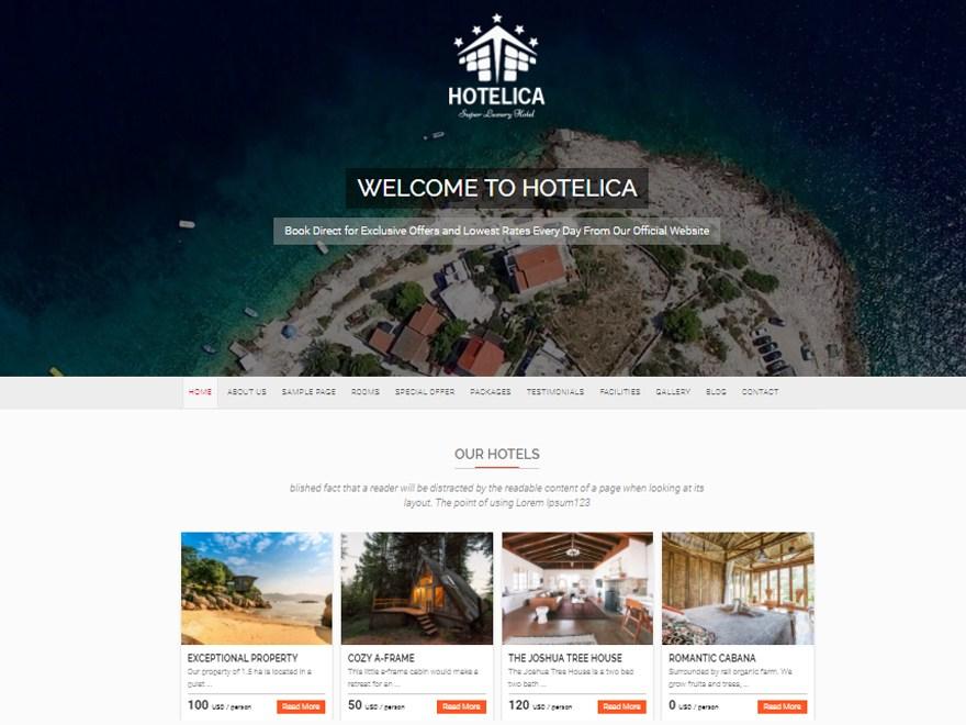 Best 7 Free Hotel And Resort WordPress Themes In 2018 | Unowp.com