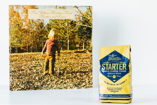 Starter coffee with Allman Brothers vinyl