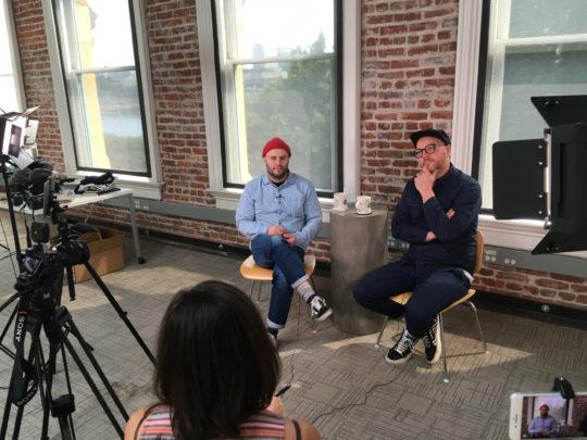 Doug and Al at the Needmore Studio