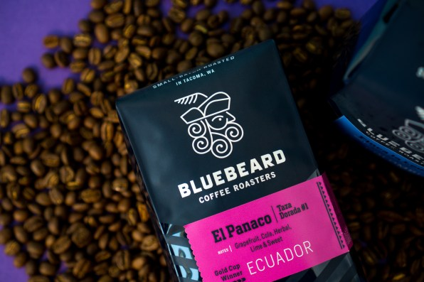 Bluebeard and coffee beans