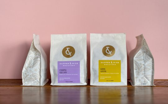 Dapper & Wise coffee packaging details