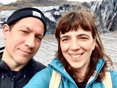ray and kandace in iceland