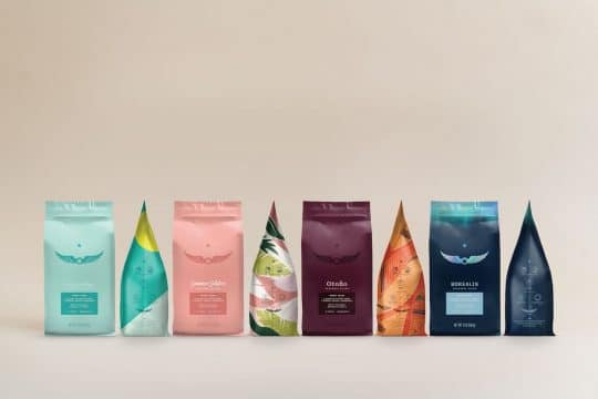 mockup of colorful bags