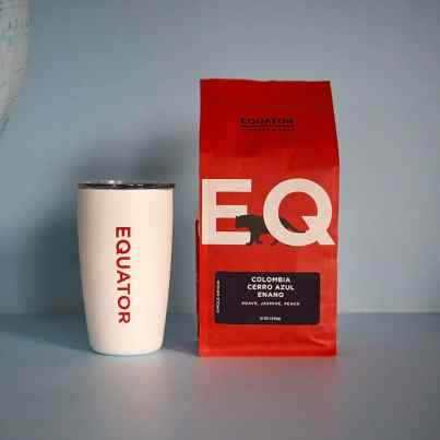 Equator Coffees Colombia Cerro Azul Enano coffee with Miir mug