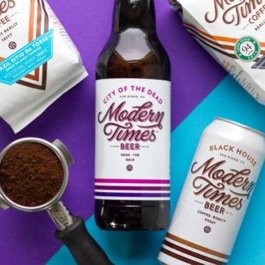 Modern Times City of the Dead beer and Black House coffee roasty stout with portafilter