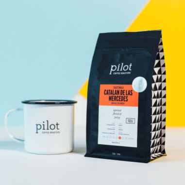 Pilot Coffee Roasters Guatemala Catalan De Las Mercedes coffee with Pilot mug