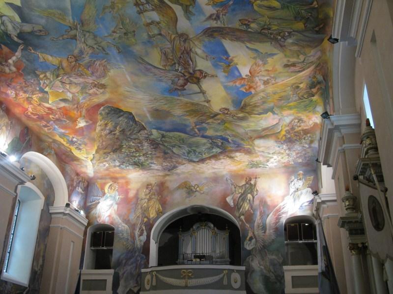 Frescos in church in Ráckeve