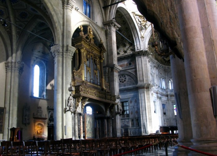 Interior of the Duomo at Lake Como