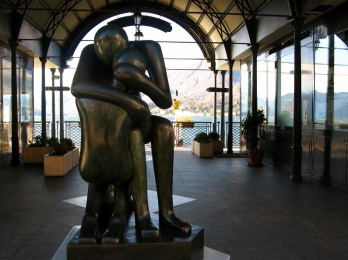 Bellagio harbor sculpture
