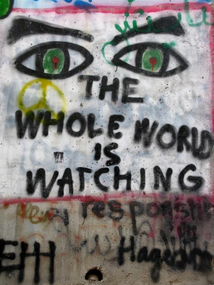 Graffiti on Bethlehem wall