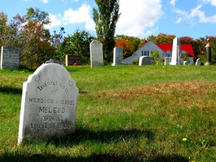 Cabot trail Cape Breton cemetery