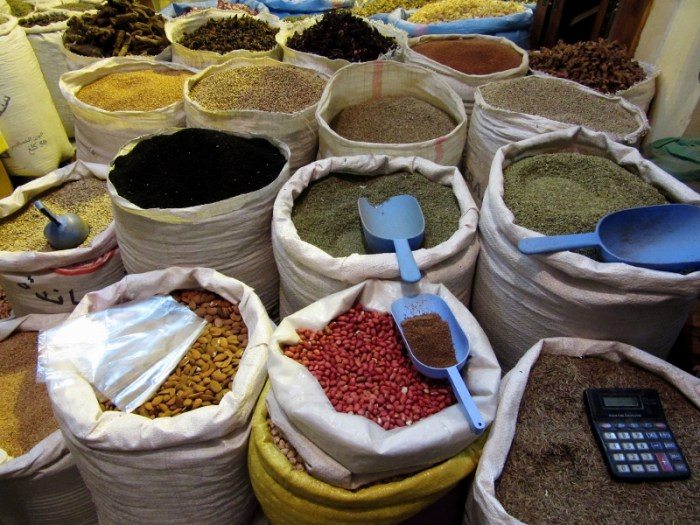 Marrakesh souk spices