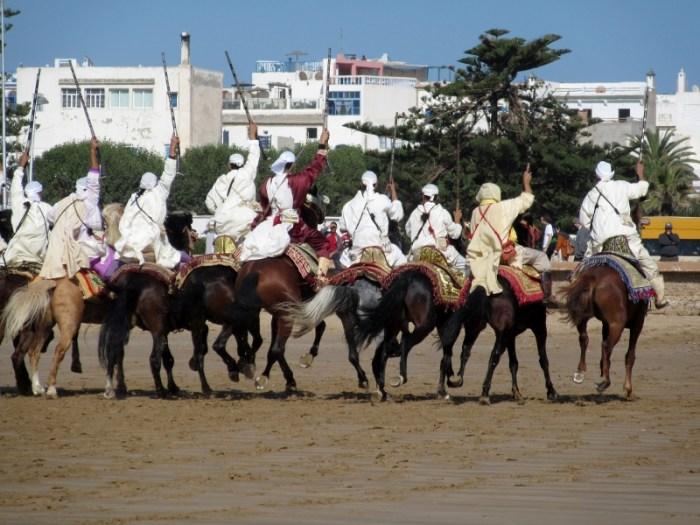 Essaouira horses riders guns