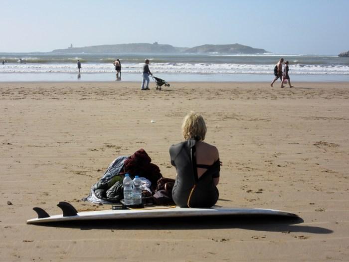 Essaouira beach surfing