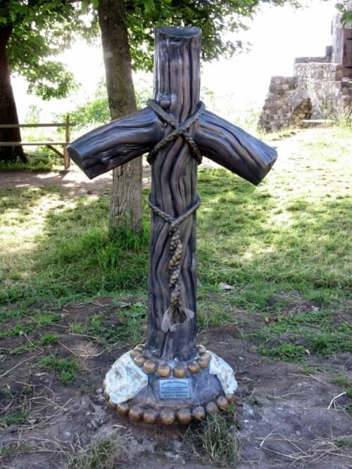 Georgian Cross at Gelati Monastery