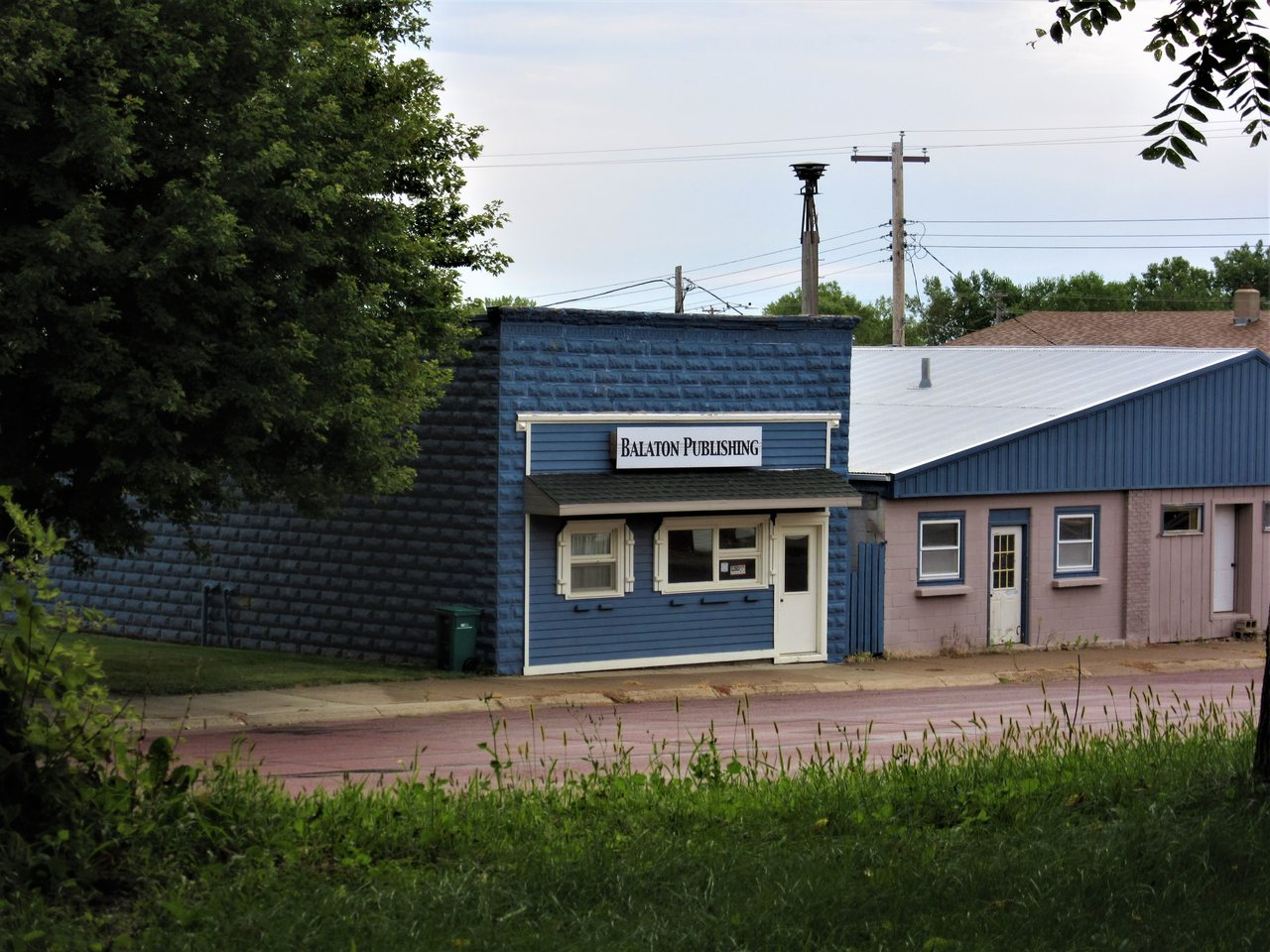 Front of Balaton Publishing building in Balaton Minnesota