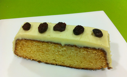 Bizcocho chocolate blanco