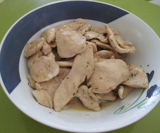 Filetes de pollo en salsa
