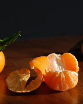peeled citrus still life