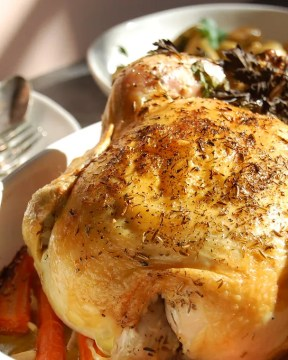 roast chicken with herbs