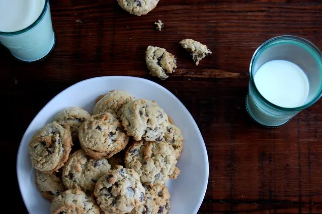 Soft and Chewy Dark Chocolate Chip Cookies - Unpeeled