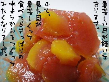 オレンジとすもものつぶつぶ水ようかん