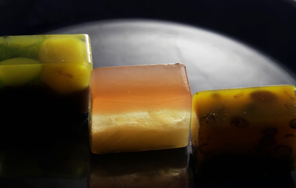 茂宮かぼちゃの羊羹・花りんご・抹茶風味の栗羊羹