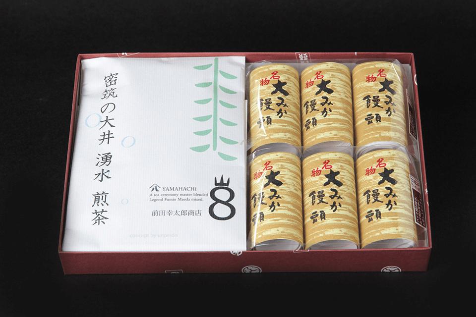 大みか饅頭3P×2 煎茶 50g